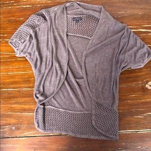 Express knit short sleeve cardigan Sz XS